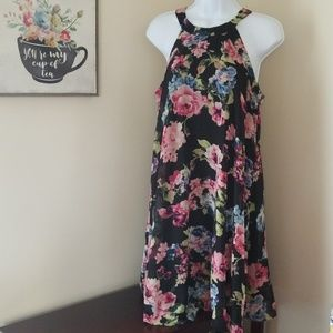 Betsey Johnson floral halter dress